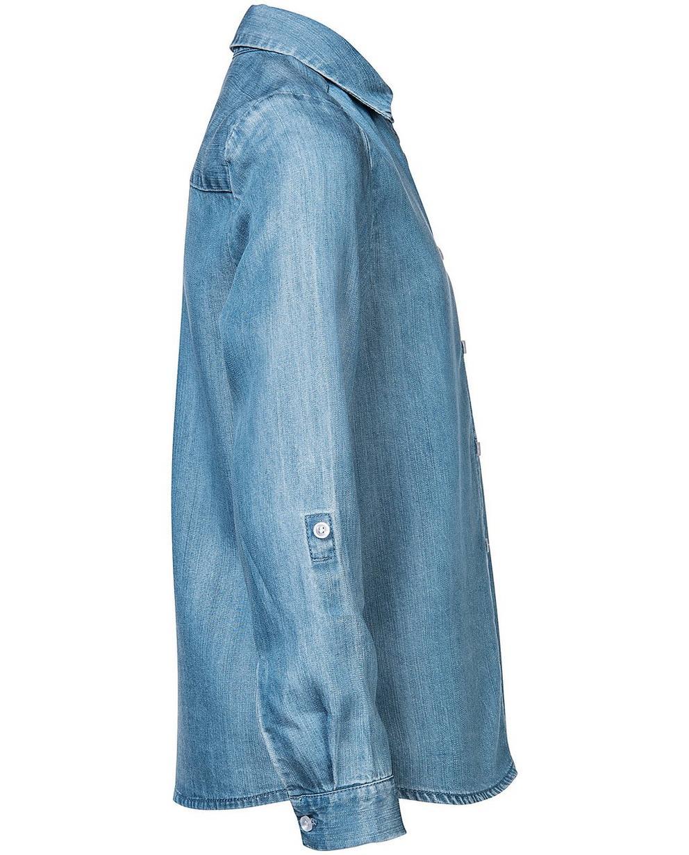 Hemden - Aqua - Hemd aus Lyocell mit Denim-Look